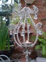 Danish Hanging Jewelled t-light glittering Chandelier