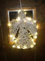 Rustic Swedish Willow Led Light Christmas Angel Decoration.