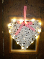Rustic Romantic Swedish Led Light Heart Decoration