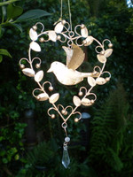 Romantic hanging Dove Heart Decoration