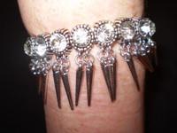 Lovely Danish Crystal and Nickle Bracelet