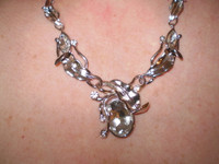 Gorgeous Danish Crystal and Nicke Adjustablel Necklace