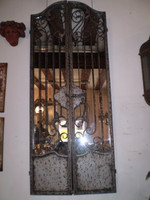 Gorgeous Large French Internal Grill Door Mirror