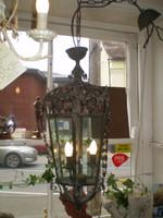 Ornate French Iron,Glass Art Nouveau style ceiling lantern chanderlier