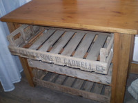 Vintage English Antique Pine Bakers Chest,ideal in Kitchen for storing,preperation of Vegetables