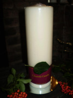 Large Danish Cream Pillar Church Candle,slow burning, 110 hours burn time