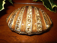Beautiful Danish Crystal Shell Trinket jewellery box.