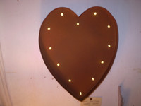 Gorgeous Romantic Industrial style Iron Wall Hanging Heart Lamp,Battery Powered
