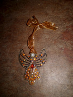 Danish Topaz Crystal Angel Hanging Christmas tree decoration