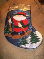 Scandinavian Skiing Santa Christmas Stocking