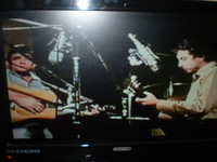 """Great Film of Johnny Cash & Bob Dylan recording """"One too many Mornings"""""""