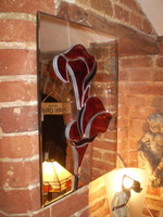 Gorgeous Danish mirror with Lily design