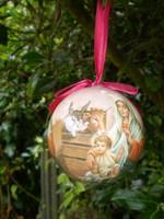 Gorgeous Dutch Traditional Christmas Christian Bethlehem Bauble,Nativity,Mary,Jesus