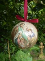 Dutch Traditional Christmas Christian Bethlehem Nativity Bauble,Mary,Jesus,Joseph