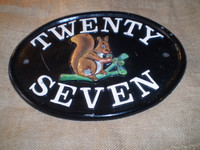 Cast Iron Signs can last forever.Paint may need touching up but thats only decoration