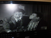 """Sam Cooke and Cassius Clay singing """"Hey,Hey The Gangs all here"""""""