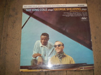Nat King Cole sings George Shearing Vinyl LP Jazz Album