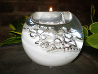 German Christmas Crystal Glass Diamante Jewels Tea-lite holder  GR71731