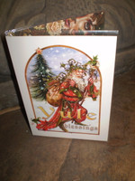 Traditional English Christmas,Yuletide Father Christmas New Age card,Eco Friendly