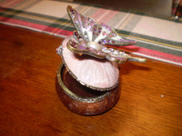 Gorgeous Danish Austrian Crystal Pink Butterfly Trinket Box,Jewellery,Gift for her