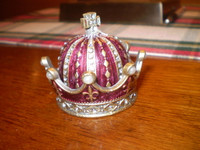 Gorgeous Danish Austrian Crystal Royal Crown Trinket Box,Jewellery,Gift for her