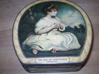 Vintage English Edwardian Sweet Tin.Real Tin,ideal for 10th wedding anniversary