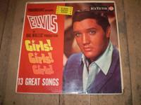 Girls Girls Girls Vinyl LP Album Elvis Presley,1962 Silver Spot first pressing,Gorgeous condition