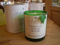 Luxury Wedding Scented Soy Wax Candle, Mr & Mrs, Natural English Made