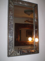 Trendy Danish Industrial Style Metal and Glass Rectangle Mirror