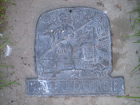 Architectural Salvage,18th Century Lead Antique,Fire Protectors Plaque