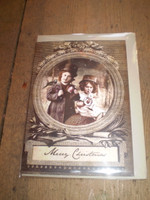 Gorgeous English Victorian Style Christmas,Yule Card,Two Little Tinkers