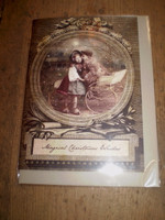 Gorgeous English Victorian Style Christmas Yule Card,Pip and Estella,Children
