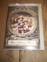 Gorgeous English Victorian Style Christmas,Yule Card,Waiting for Santa