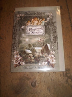 Gorgeous English Victorian Style Christmas,Yule Card,Compliments of the Season