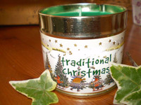 Traditional English Christmas Scented Candle Tin,Truffle with Cinnamon