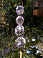 Victorian Christmas Decorations,Faceted Hanging Glass Crystal