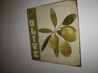 Vintage Style Olive Hanging Sign,Kitchenalia