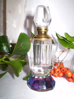 Fabulous Vintage French Art Deco Perfume Bottle, Faceted Crystal