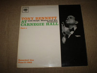 Tony Bennett at Carnegie Hall Vinyl LP Album, Near Mint