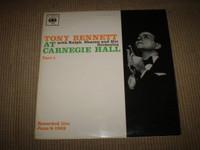 Tony Bennett at Carnegie Hall Vinyl LP Album, Near Mint
