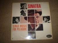 Frank Sinatra sings Music for Pleasure Vinyl LP Album, Jazz, Near Mint