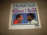 One Night Stand Vinyl LP Album, Tony Bennett & Count Basie, Jazz, Near Mint