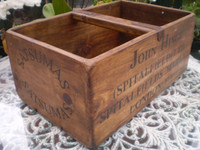 Vintage Reclaimed Timber London Market Fruit Box, Lovely Condition