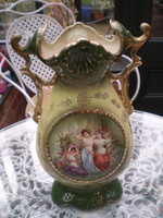 Vintage French Art Nouveau Porcelain Vase, Gorgeous Condition