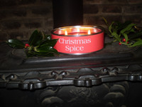 Luxury Christmas Spice Triple Wick Scented Candle, English Hand Made