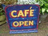 Vintage 1970's Cafe sign from Jersey Channel Isles, Cast Iron, Excellent