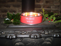 Luxury Christmas Mulled Wine Triple Wick Scented Candle, English Hand Made