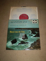 Music from the Films Vinyl LP Album, Mantovani, 1958 pressing, Near Mint