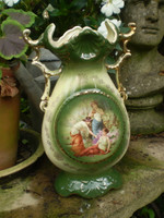 Vintage French Art Nouveau Porcelain Vase, Wonderful Condition