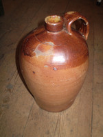 Vintage Edwardian Reclaimed Stone Storage Jug, Kitchenalia